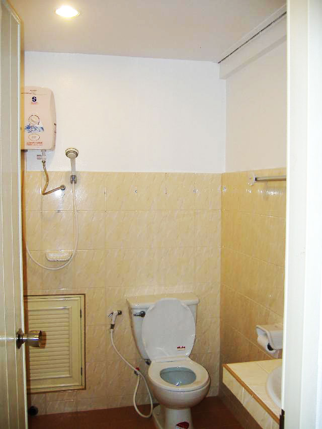 Brand new bathrooms with hot water shower, western toilet and sink